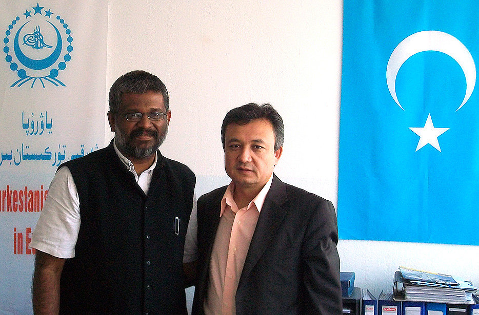 Dolkun Isa, Secretary General of World Uyghur Congress (WUC) with Sethu Das, Co-founder of Design & People at the WUC Headquarters.