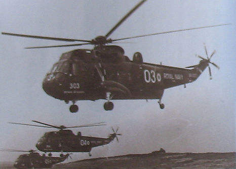 Royal Navy Sea Kings to take-off with coffins of Mountbatten family members.