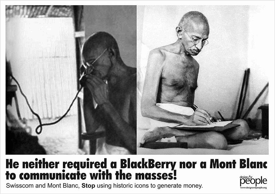 Design & People poster on Gandhi