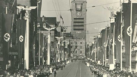 Stuttgart Under the Nazis: Adolf Hitler visit in 1938.