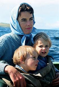 Patricia Knatchbull with twins - Tim & Nick Knatchbull