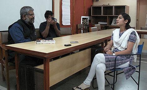 Team NID in conversation with Bhoomika Mehta, Financial Literary Coordinator of SEWA Bank