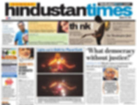 The Hindustan Times design experiments.
