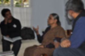 Dr Ela Bhatt with Sethu Das and Team NID