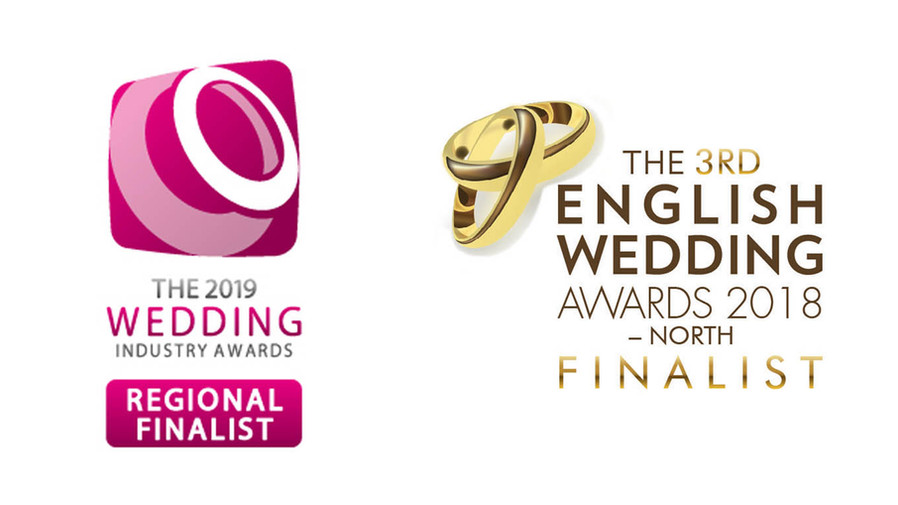 EXCITING NEWS... WE'RE FINALISTS IN TWO WEDDING INDUSTRY AWARDS!