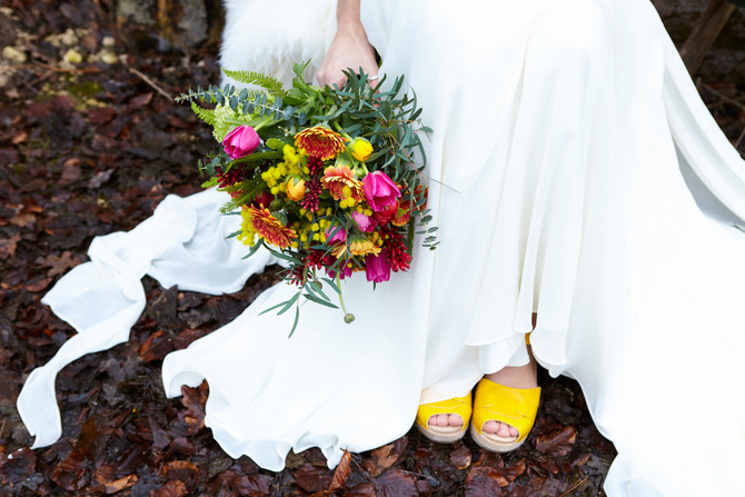 Scandi Brights: A Boho Woodland Wedding Styled Shoot