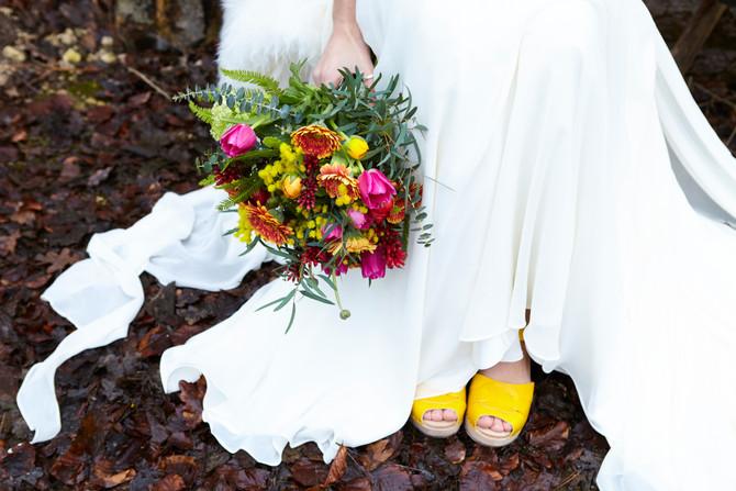 Scandi Brights: A Boho Woodland Wedding Styled Shoot