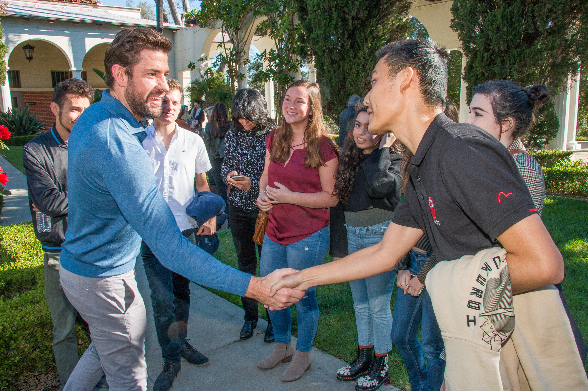 John Krasinski with Students