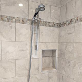 Transitional Tile Shower