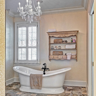 Traditional Master Bath with freestanding tub