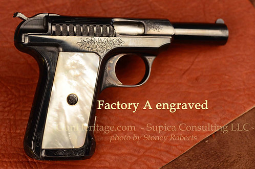 Factory engraved Savage Model 1907 pistol, .32 ACP