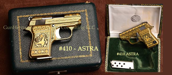 410 – Damascene engraved Astra pistol, 7.65 mm$7,500