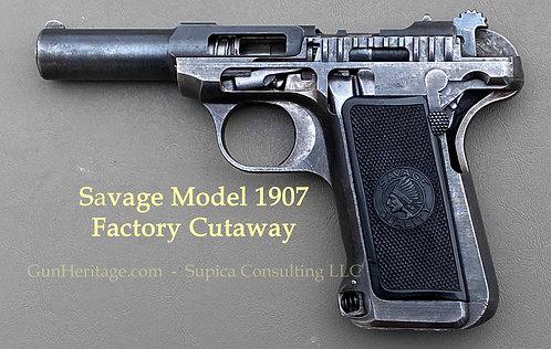 Rare Factory Cutaway Savage Model 1907 Pistol