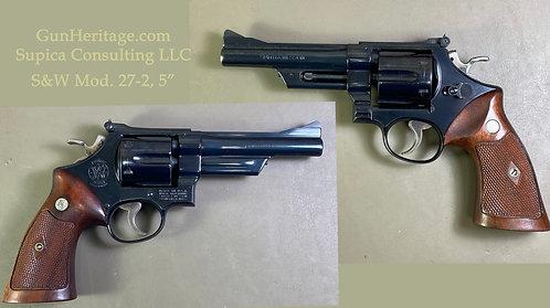 "S&W Model 27-2, 5"" barrel"