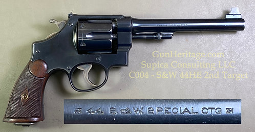 S&W .44 HE 2nd model, from Garbrecht collection