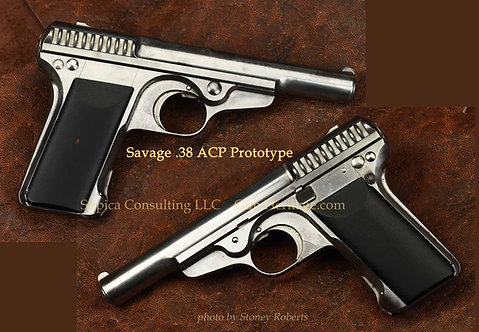 Only known Savage prototype Nelson-Smith .38 ACP pistol