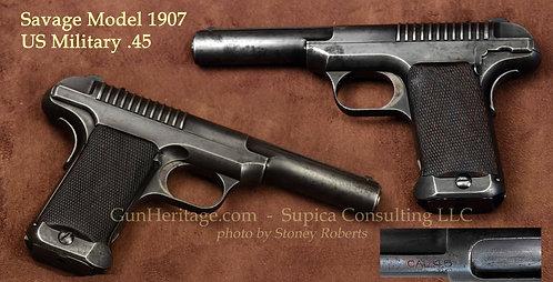 Rare Savage Military Model 1907 .45 Pistol
