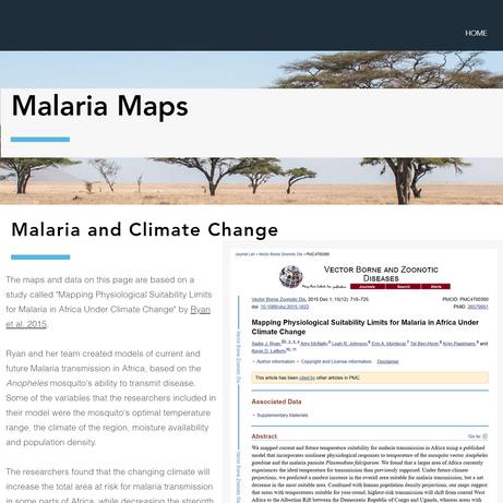 Malaria Maps Page