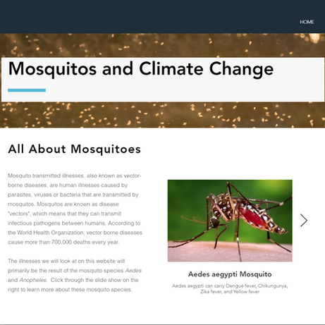 Mosquitoes and Climate Page