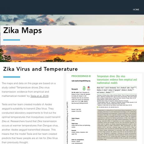 Zika Maps Page