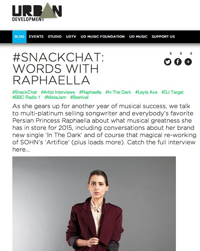 Urban Development #SNACKCHAT: Words with Raphaella