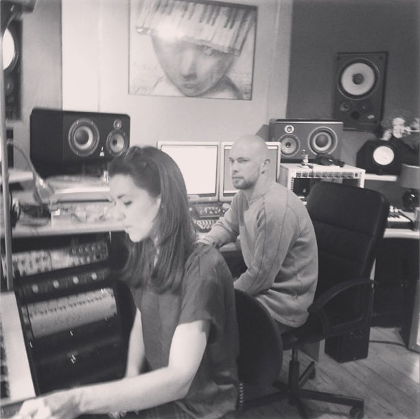 Raphaella spent the day at Sticky Studios with Adam Coltman and Anouck