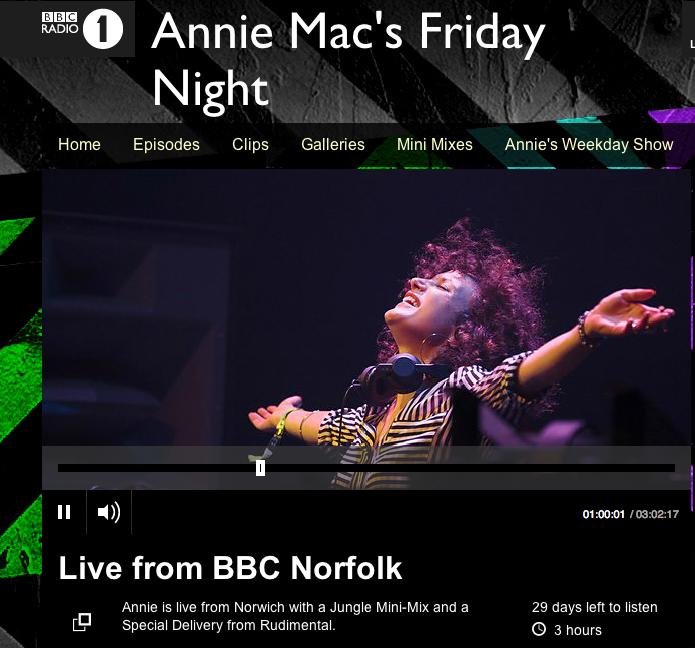 Annie Mac support - Pull Me Under