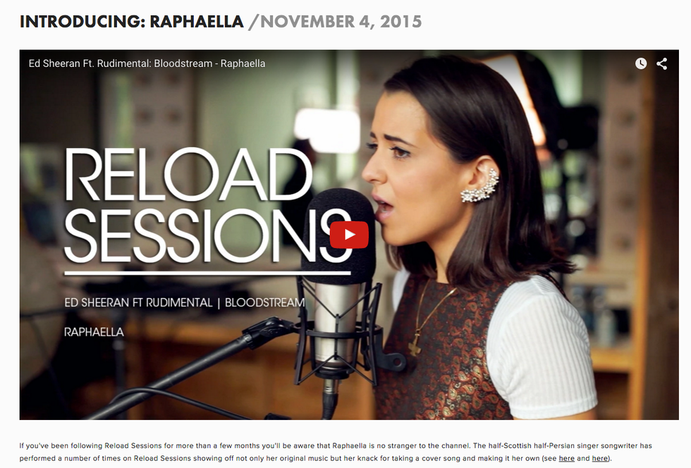 Reload Sessions: Introducing Raphaella
