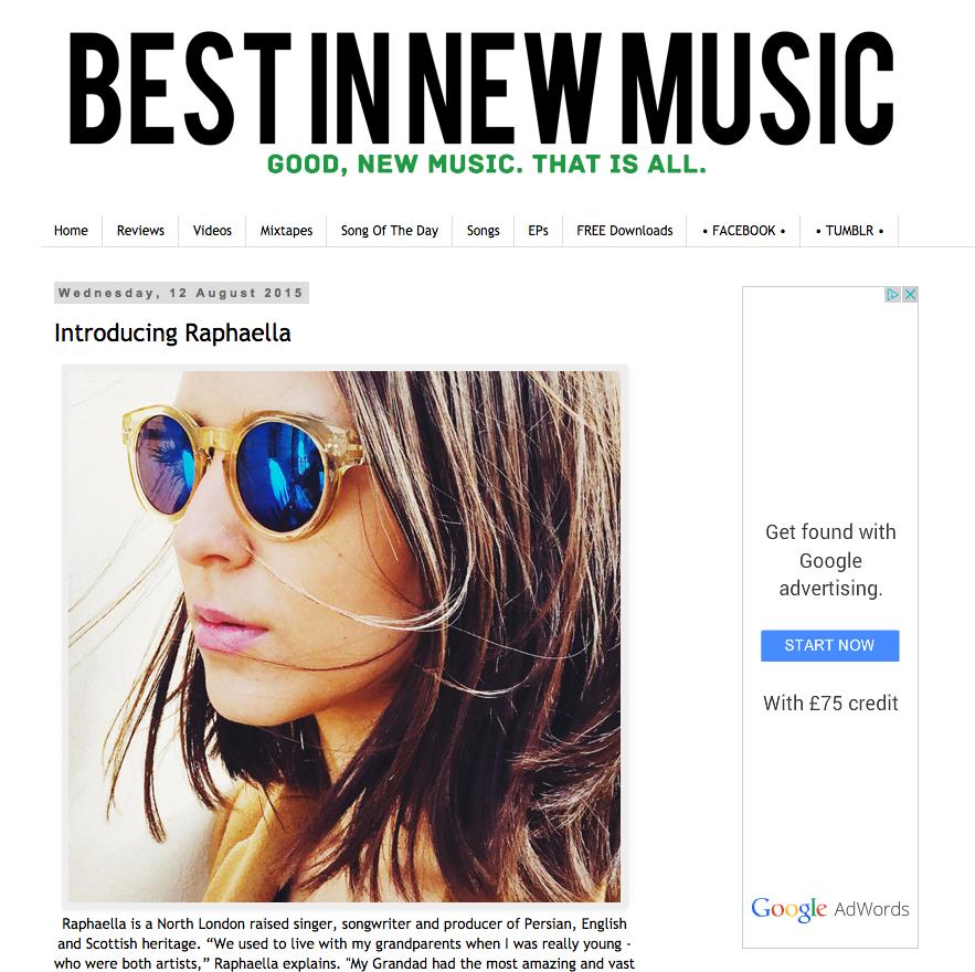 BEST IN NEW MUSIC - Introducing RAPHAELLA