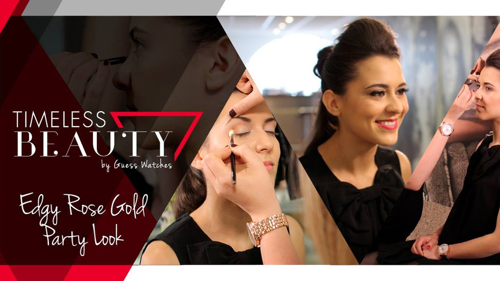 Guess Watches release it's video blog 3rd Dec featuring Raphaella 'Edgy Rose Gold Party Look'
