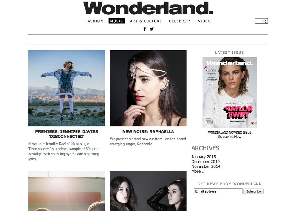 Wonderland Magazine Premiere