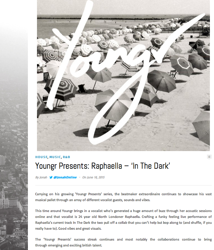 'About To Blow' review - Raphaella + Youngr collab on 'In The Dark'