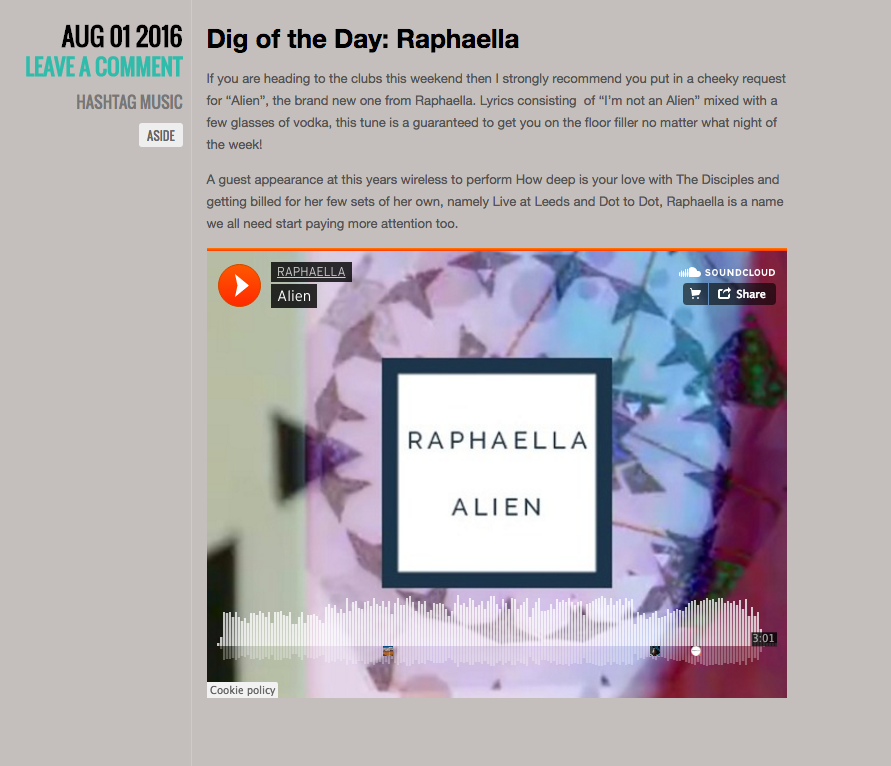 'Dig Of The Day' Raphaella - ALIEN