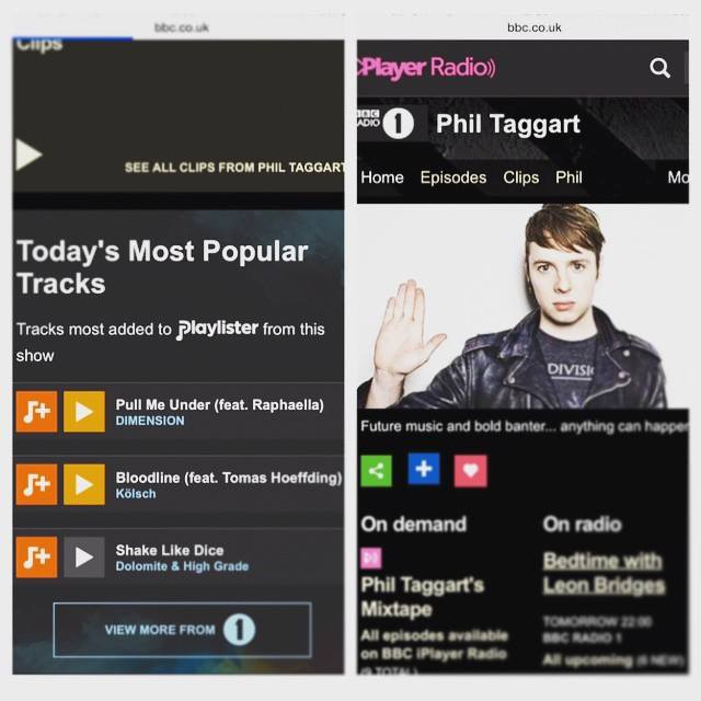 PULL ME UNDER - Most popular track on Phil Taggart's Radio 1 show