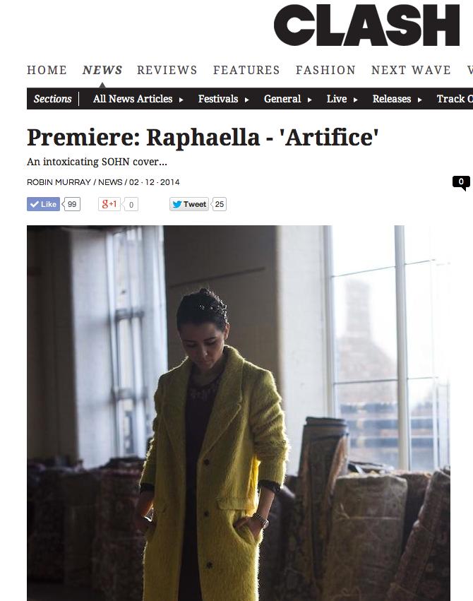 Clash Magazine - Premiere: Raphaella - Artifice [Sohn Cover]