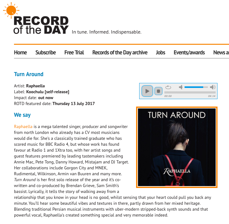 Record Of The Day - Turn Around