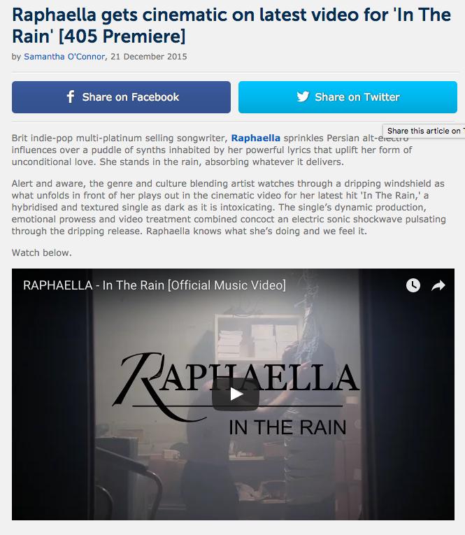 The 405 Premiere Music video In The Rain