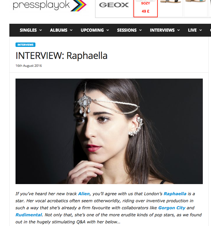 PRESS PLAY OK Interview Raphaella