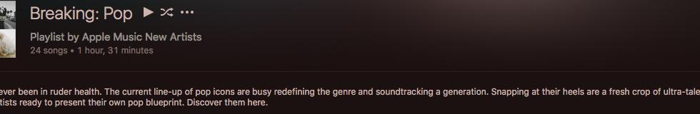 'FALL' added to Apple Music's 'Breaking' Pop Playlist