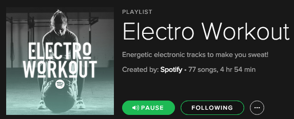 To Be Me Spotify Electro Workout