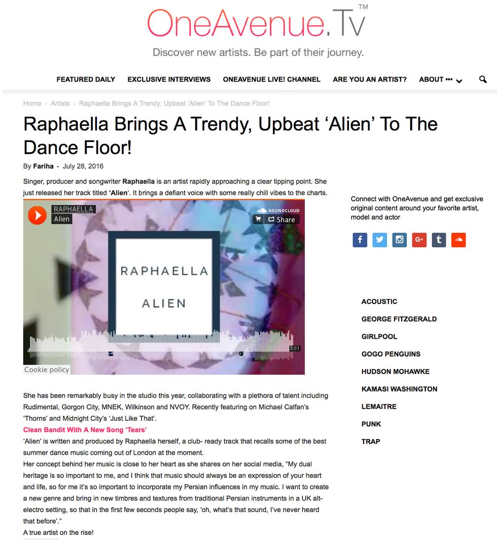 One Avenue TV Review: ALIEN