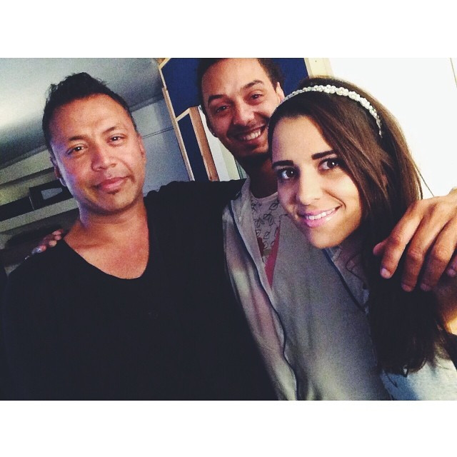 Raphaella's in the studio with Bless Beats and Hiten Bharadia