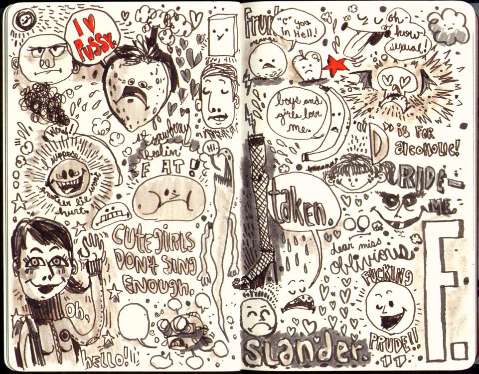 Red Sketchbook page 13