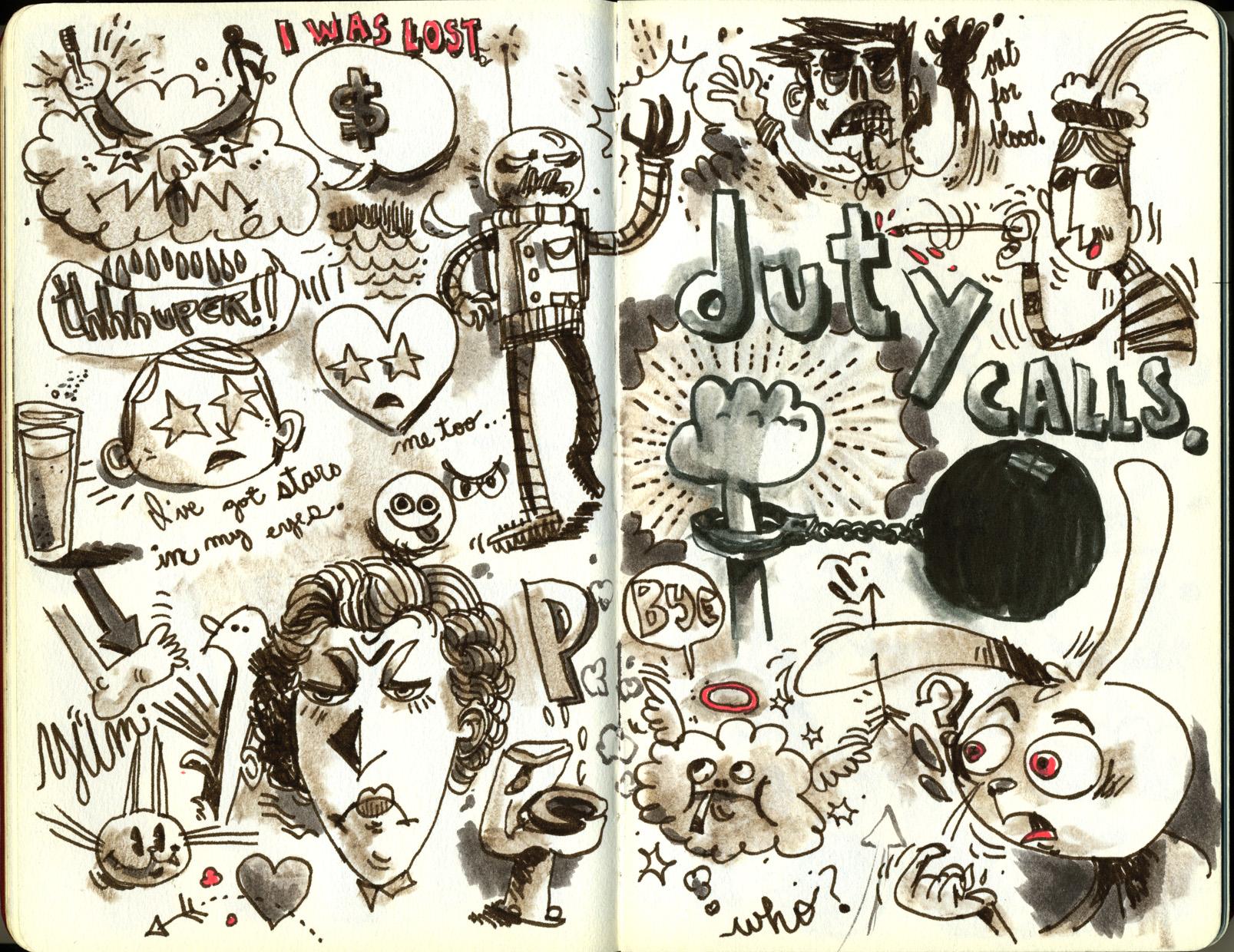 Red Sketchbook page 19