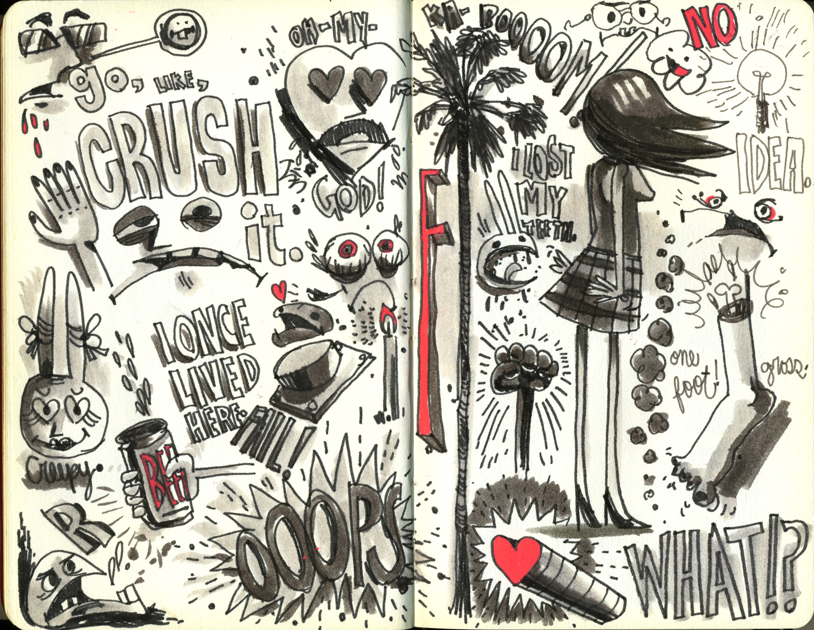 Red Sketchbook page 25