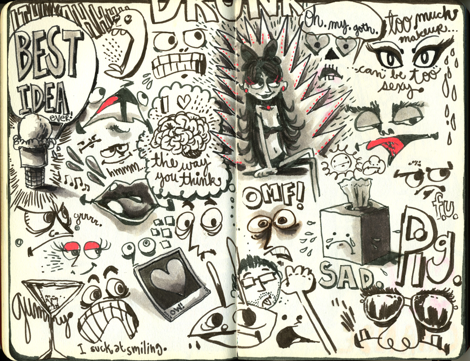 Red Sketchbook page 27