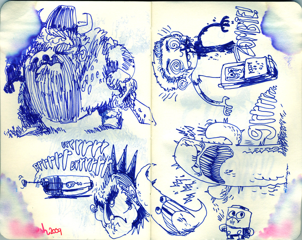 Blue Moleskine page 07