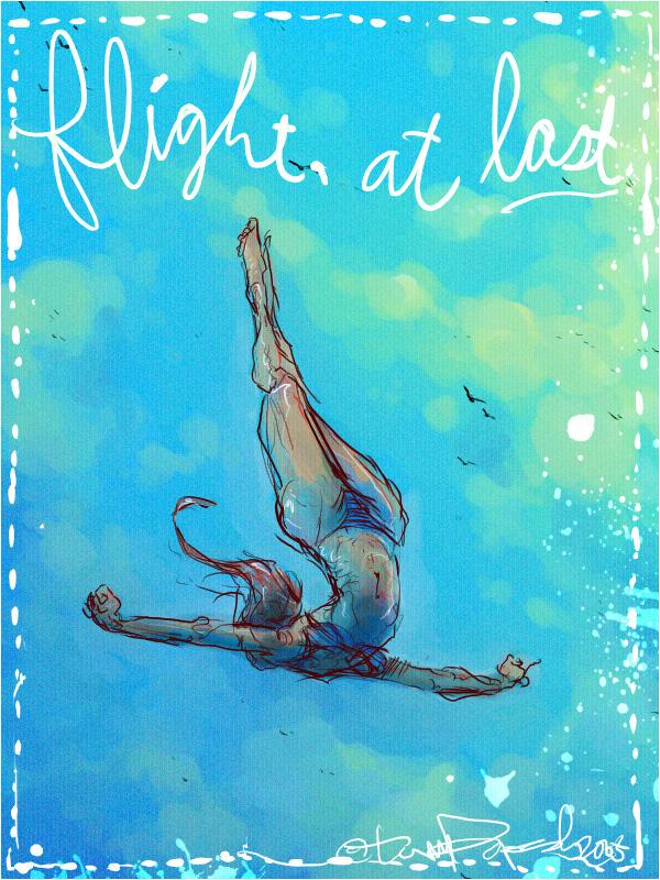 Flight, at last