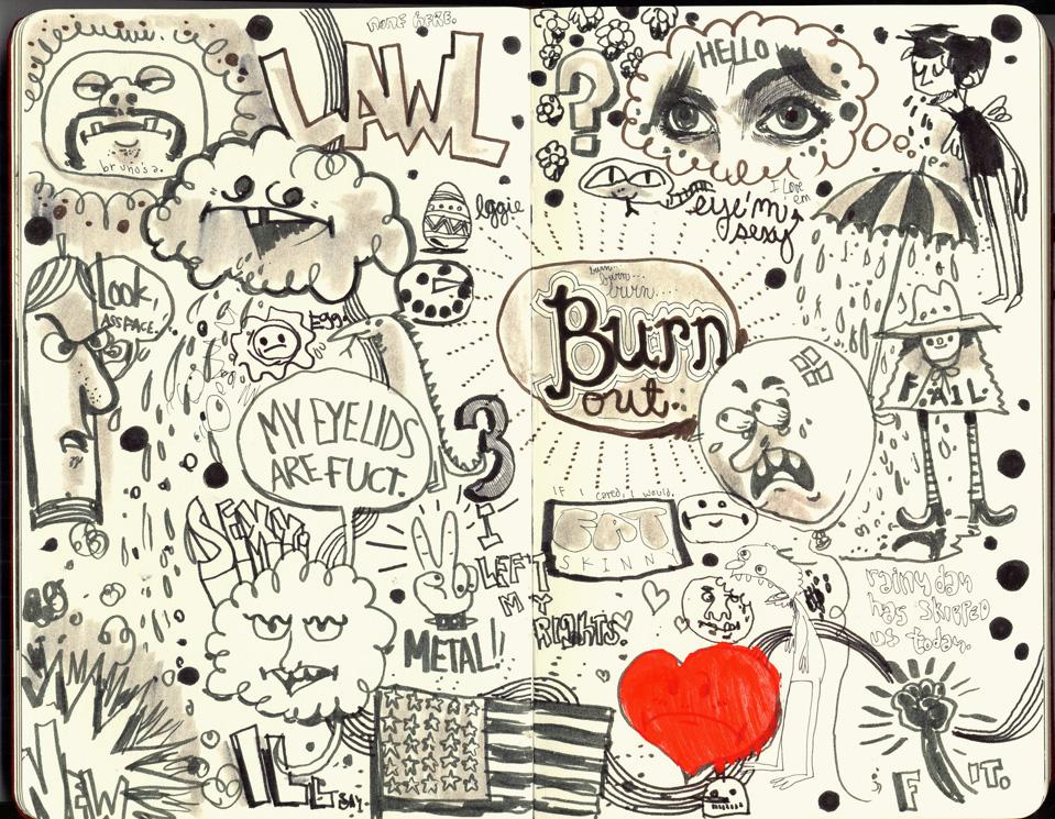 Red Sketchbook page 03