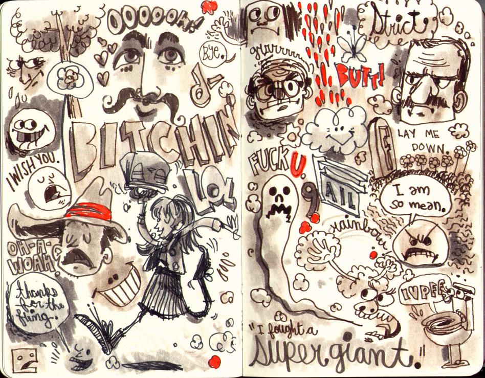 Red Sketchbook page 11